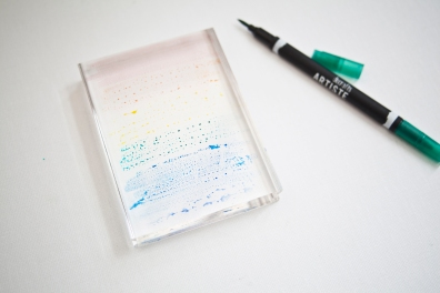 1.1.colouring the acrylic block1